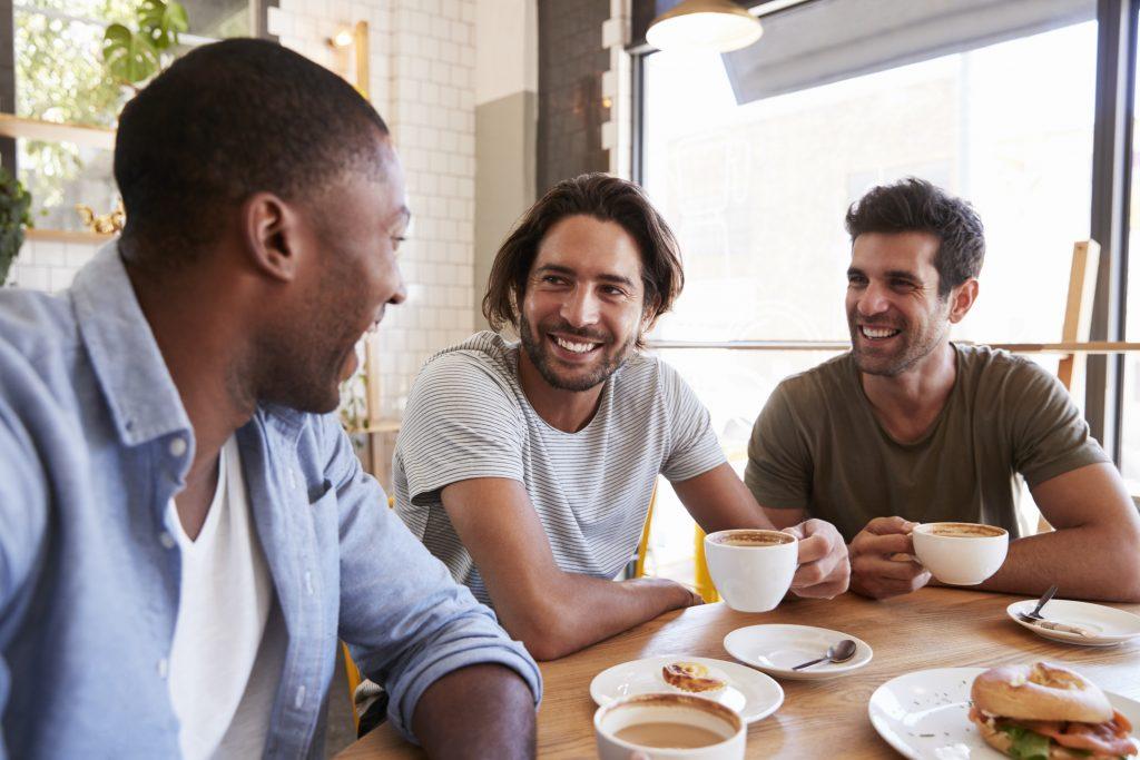 men at coffee shop