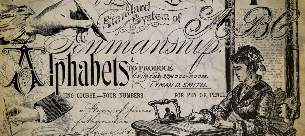 vintage writing